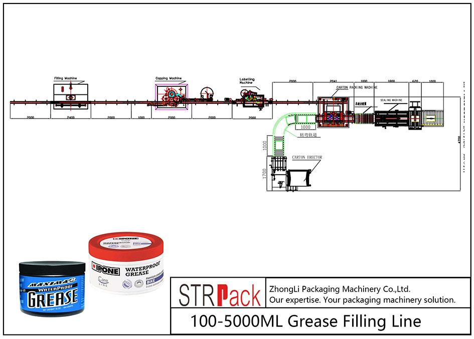 Linea automatica di riempimento del grasso 100ML-5L