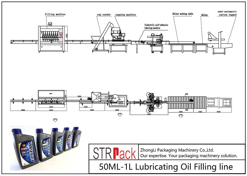 Linea di riempimento automatico dell'olio lubrificante 50ML-1L