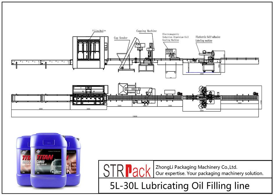 Linea di riempimento olio 5L-30L automatico
