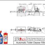 Linea automatica di riempimento detergente WC