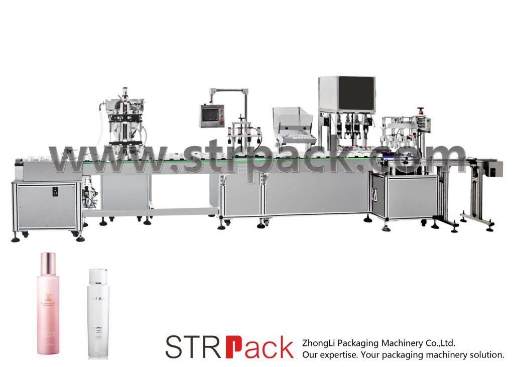 Riempitrice e tappatrice automatica dell'emulsione dell'acqua